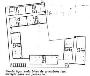Figura 7 – Planta do pavimento tipo do Edifício e Galeria Califórnia [Habitat nº. 2]