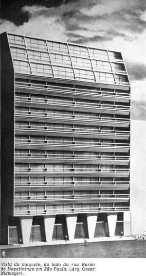 Figura 8 – Foto da Maquete do Edifício e Galeria Califórnia [Habitat nº.2]