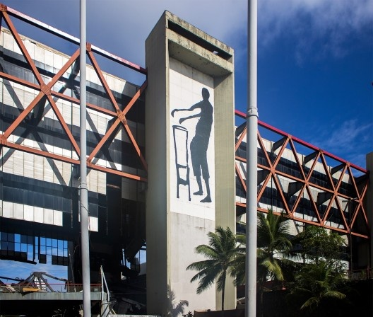 Centro de Convenções da Bahia, Salvador, escritório Irmãos Roberto. Obras de recuperação em 2010<br />Foto Rafael Santana