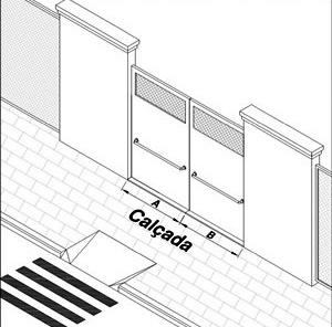Portão de entrada, primeiro elemento arquitetônico a ser avaliado