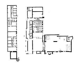 Sigürd Lewerentz, Igreja de São Marcos, Björkhagen planta baixa [Claes Dymling. Architect Sigurd Lewerentz, vol. I, p.152]