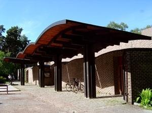 Sigürd Lewerentz, Igreja de São Marcos, Björkhagen, nártex<br />Foto Fernando Diniz Moreira