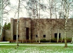 Sigürd Lewerentz, Igreja de São Marcos, Björkhagen, vista externa da igreja<br />Foto de Fabio Galli  [Claes Dymling. Architect Sigurd Lewerentz, vol. I, p.157]