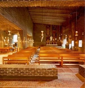Sigürd Lewerentz, Igreja de São Marcos, Björkhagen, interior da Igreja<br />Foto Fernando Diniz Moreira