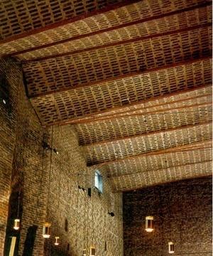 Sigürd Lewerentz, Igreja de São Marcos, Björkhagen, interior da Igreja, abóbadas<br />Foto Fernando Diniz Moreira