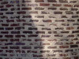 Sigürd Lewerentz, Igreja de São Marcos, Björkhagen, parede externa, detalhe [Foto Fernando Diniz Moreira]