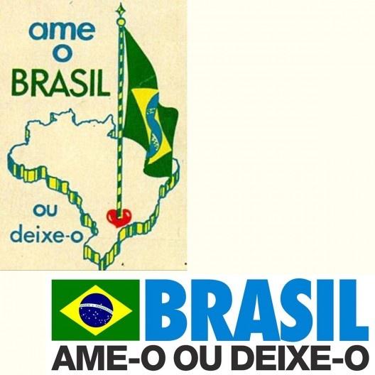 Peças publicitárias do governo militar brasileiro na gestão do general Emílio Garrastazu Médici (1969-1974)<br />Imagem divulgação