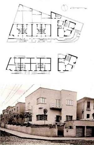 Casas de aluguel - rua Mazzini - 1933, Arq. Rino Levi [ANELLI, GUERRA, KON, 2001]